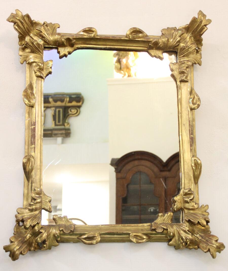 Specchiere Coppia di specchiere scolpite e Dorate