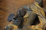 Sculture Acquasantiera Barocca in bronzo