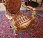 Poltrone Coppia di poltrone Luigi VI Francia in oro zecchino
