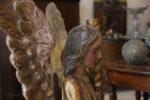 Sculture Coppia di angeli dorati e laccati con ali mobili 700