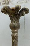 Lumi Torciera in legno siciliana Direttorio con finitura in argento